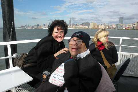 Nancy Anny and Larry on the Neighborhood Boat Ride 10-03-10